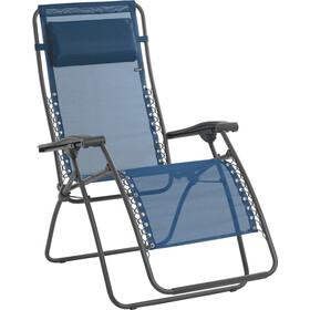 Lafuma Mobilier RSXA Liggestol med Cannage Phifertex, blå/grå